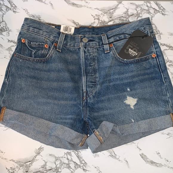 LEVI 501 Mid-Rise Shorts